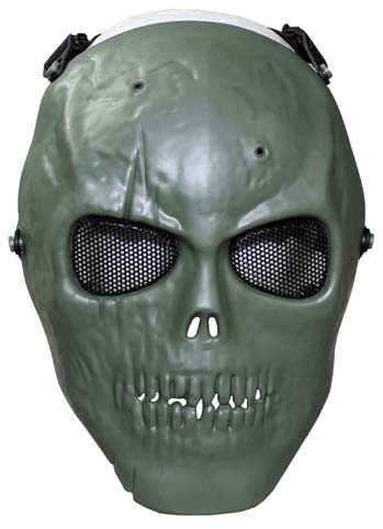 Gittermaske Totenkopf oliv