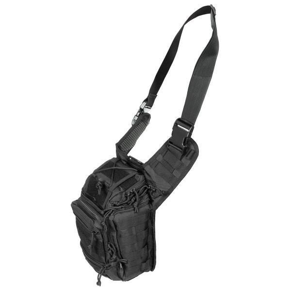 Schulter-Umhängetasche Deluxe - schwarz - seite - armyoutlet
