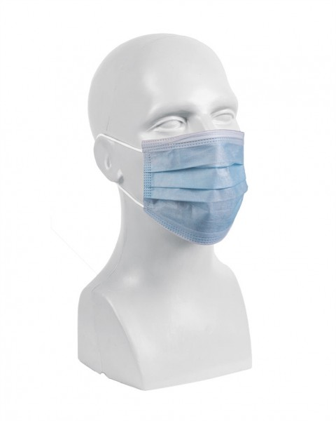 Einwegmaske 3-lagig mit Elastikband