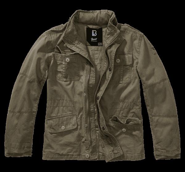 Brandit Kids Britannia Jacket - oliv - vorn - armyoutlet