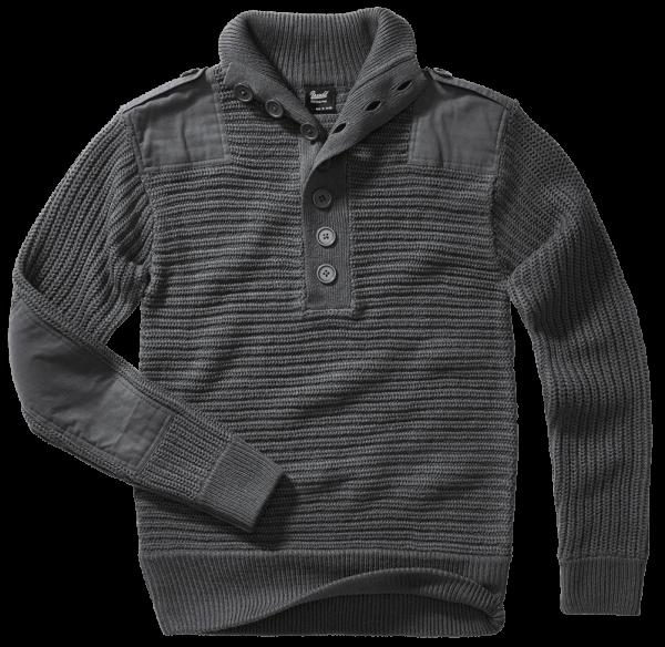 Brandit Alpin Pullover - anthracite - vorn - armyoutlet