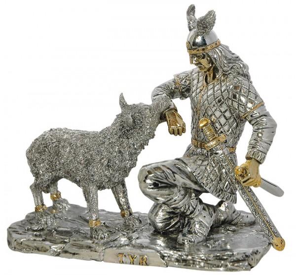 Gothic Dekoration Figur Thor mit Asgard-Wolf KBW 5