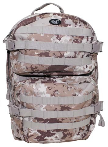 US Rucksack Assault II vegetato desert