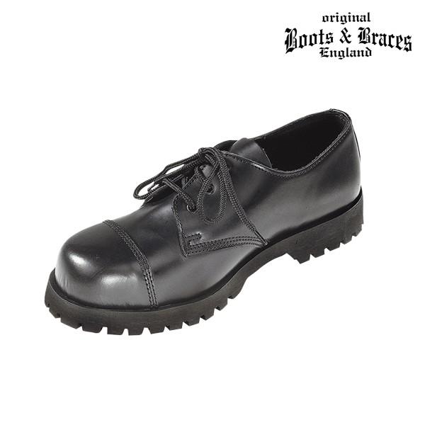Boots & Braces 3 Loch Boots schwarz