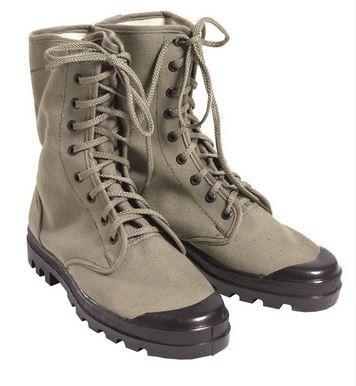 Französische Commando Schuhe Canvas 9 Loch oliv