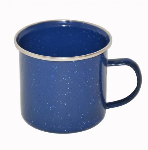 Tasse Emaille 350 ml blau - armyoutlet.de
