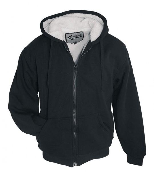 Sherpa Jacke schwarz, grau