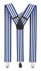 Hosenträger mit Clips blau / weiß