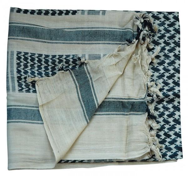 PLO - Shemagh Tuch schwarz-beige