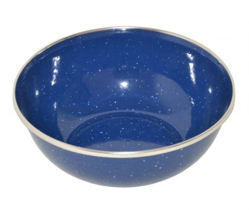 Suppenschüssel Emaille blau - armyoutlet.de
