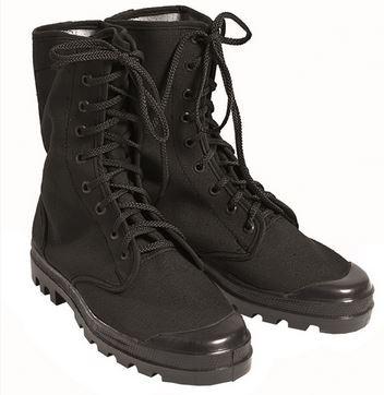 Französische Commando Schuhe Canvas 9 Loch schwarz