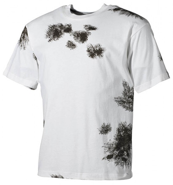 US T-Shirt halbarm BW winter tarn