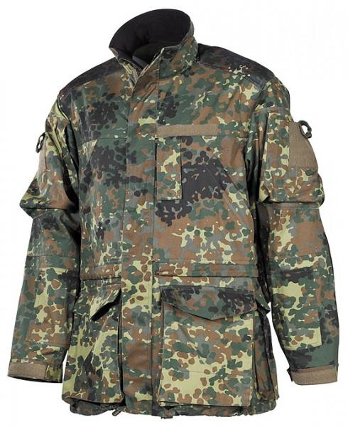 BW Kampfjacke Einsatz Übung lang flecktarn vorn - armyoutlet.de