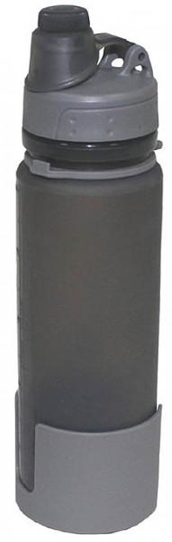 Trinkflasche faltbar grau 0,5 Liter