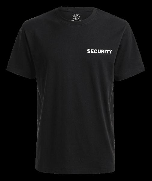 Brandit Security T-Shirt schwarz vorn - armyoutlet.de