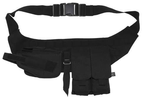 Brustgurt mit Pistolenholster und Magazintasche schwarz