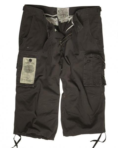 Air Combat 3/4 Pants Prewash schwarz