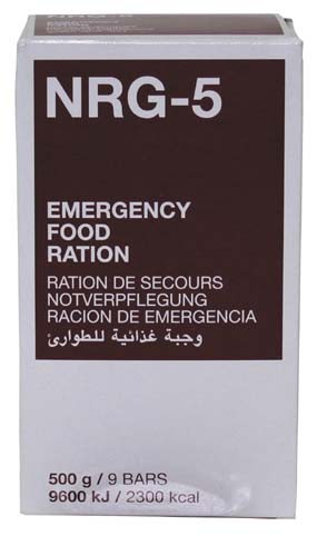 Notverpflegung NRG-5 500g (9 Riegel)