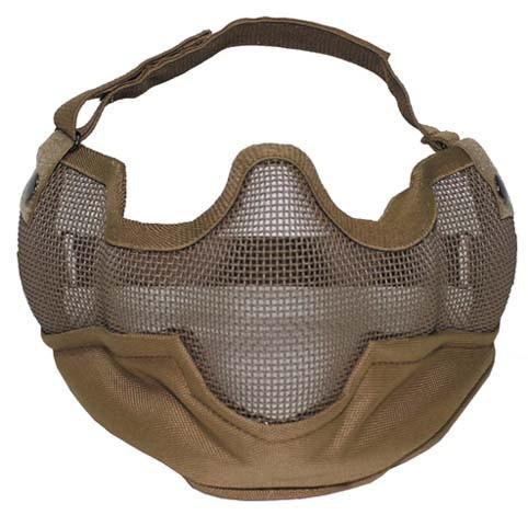 Gesichtsschutzmaske Airsoft coyote tan