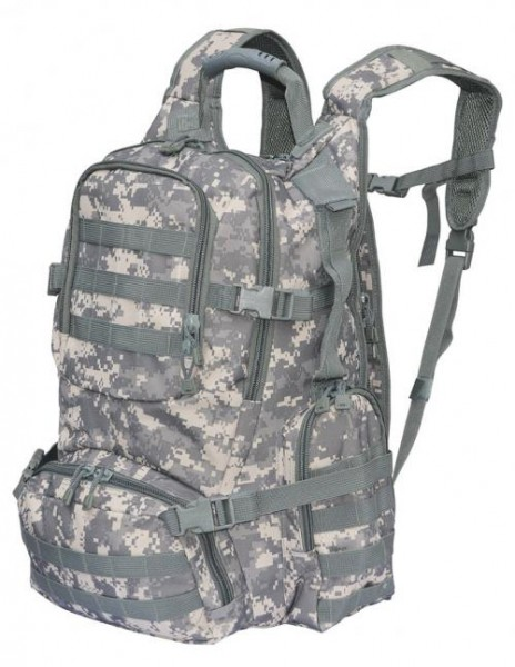 US Rucksack Army Traveler AT digital 55 L vorn