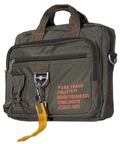 Pure Trash Handtasche mit Schultergurt oliv groß