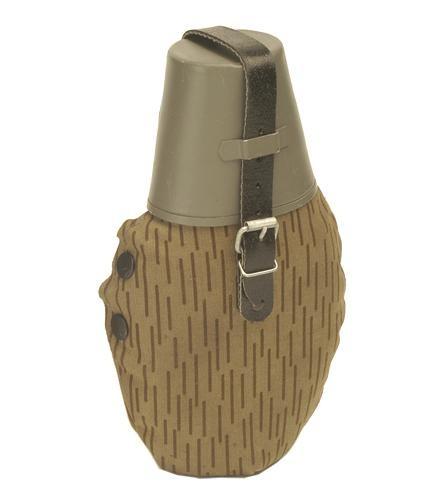 NVA Feldflasche mit Trinkbecher strichtarn