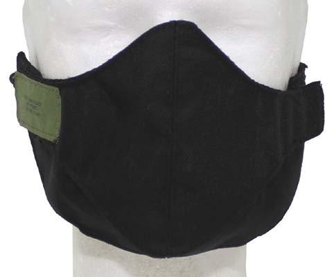 Mundschutzmaske schwarz 2-teilig mit Nase verdeckt