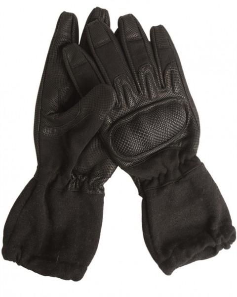 Action Gloves Lederhandschuhe mit Stulpe flammenhemmend schwarz