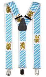 Hosenträger mit Clips Bayern mit Wappen
