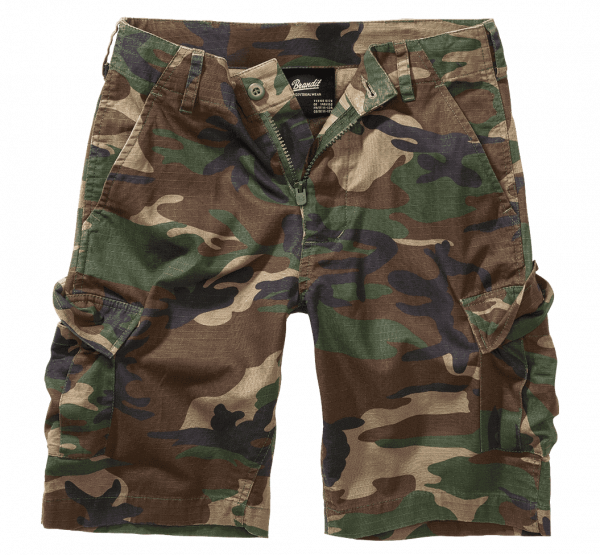 Brandit Kids BDU Ripstop Shorts - woodland - vorn - armyoutlet
