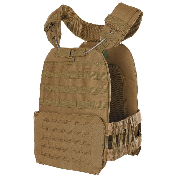 Tactical Weste Laser Molle coyote seite