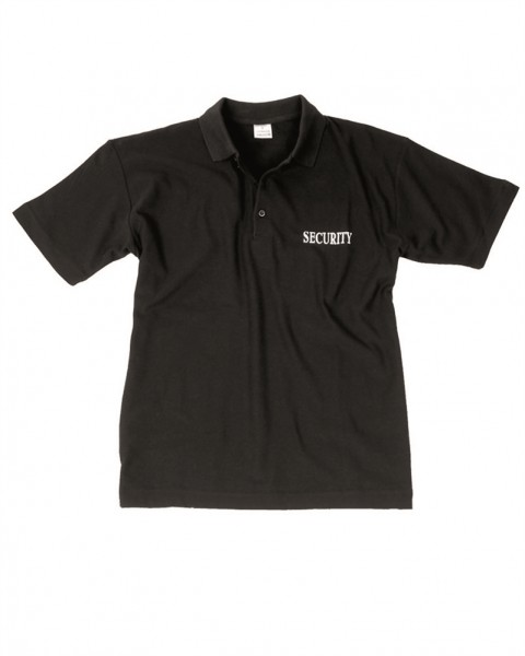 Security Polo Shirt schwarz
