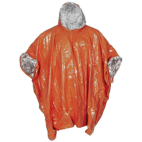 Notfall-Poncho orange einseitig alubeschichtet - angezogen - armyoutlet