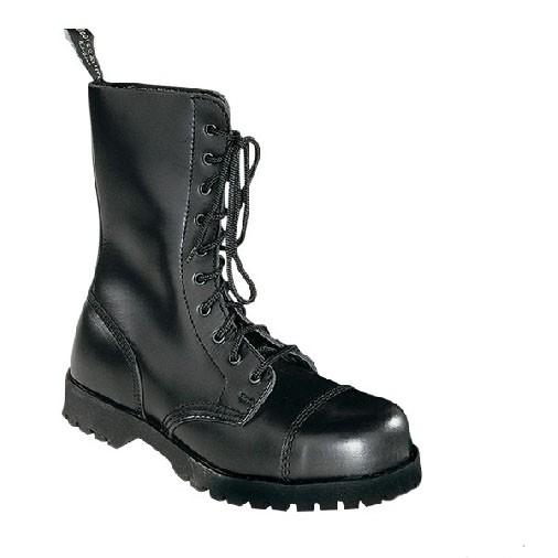 Boots & Braces 10 Loch Boots schwarz