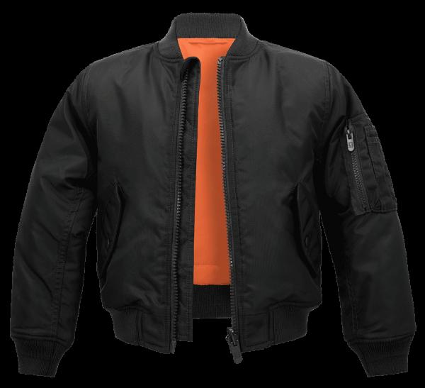Brandit Kids MA1 Jacket - schwarz - vorn - armyoutlet