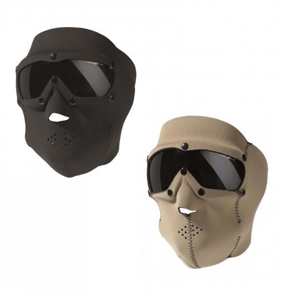Neopren Gesichtsschutzmaske Basic Smoke beide farben
